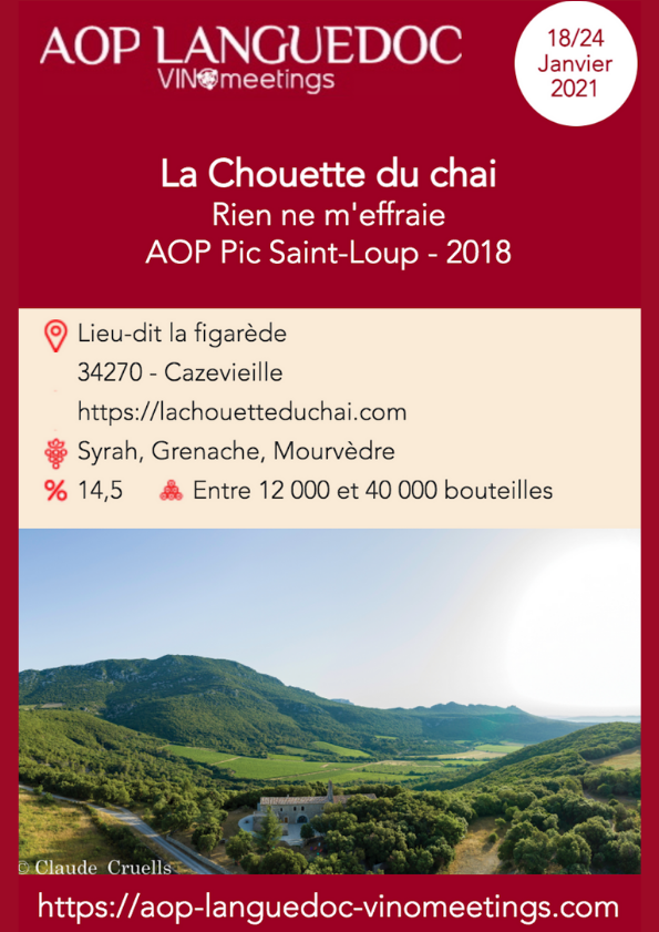AOP Languedoc Vinomeetings : Salon 100% digital du 18 au 24 janvier