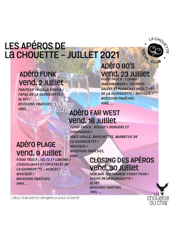 Les Apéros de la Chouette édition 2021 !